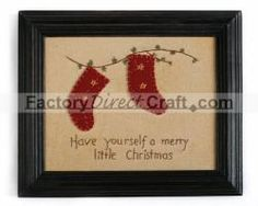 """Primitive """"Have yourself a merry little Christmas"""" Sampler - Wall Hanging Decorations - Christmas and Winter - Holiday Crafts"""