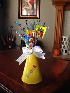Get your Megaphones for your Candy Bouquet at Spirit Accessories! Cheer Camp, Cheer Coaches, Cheer Dance, Dance Gifts, Cheer Sister Gifts, Cheer Gifts, Softball Gifts, Basketball Gifts, Team Gifts