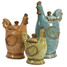 Imax Cherda Lidded Roosters - Set of 3 Handcrafted Decorative Canisters with Removable Lids. Home Decor Accents * You can find more details by visiting the image link. (This is an affiliate link) Farmhouse Style Kitchen, Farmhouse Decor, Modern Farmhouse, Country Decor, Texas Kitchen, Cow Kitchen, Chicken Kitchen, City Farmhouse, Country Kitchens
