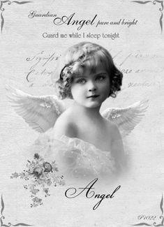 Photo cadre en bois fait main image or anges avec étoile et coeur 26,5×36,5cm