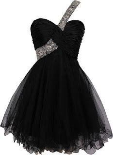 Black prom dresses - short evening gown
