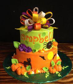 Halloween Birthday cake by christie's cakes, via Flickr