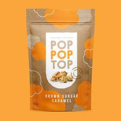 food packaging design Packaging Design for Gourmet Popcorn Brand - World Brand Design Society Popcorn Packaging, Chip Packaging, Packaging Snack, Spices Packaging, Kraft Packaging, Organic Packaging, Pouch Packaging, Food Packaging Design, Paper Packaging