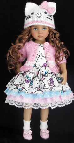 KITTY DRES AND SWEATER SET MADE FOR EFFNER LITTLE DARLING DOLLS
