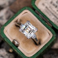 Details about  /3.20Ct Asscher Cut White Moissanite Solitary Engagement Ring 925 Sterling Silver
