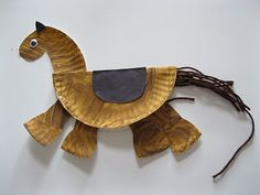 Year of the Horse: Easy paper plate craft. This simple, little horse won as the favorite of this board! Simple for kids to create. Fun for a CNY party craft!