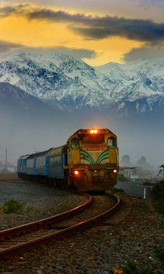 Nueva Zelanda. Mountain train, Kaikoura