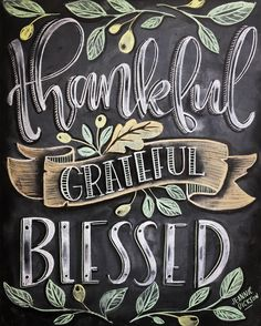 "2,419 Likes, 75 Comments - Jeannie Dickson (@honeybopsdesigns) on Instagram: ""Thankful for so many things this year! I finally made another chalk lettered sign. I just couldn't…"""