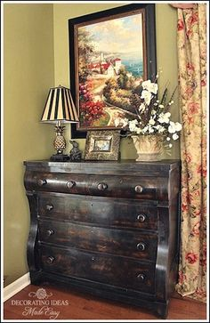 I like the black distressed look.  It would be what I want on my kitchen cabinet's. Living Room Ideas! Are you looking for inspiration and ideas?
