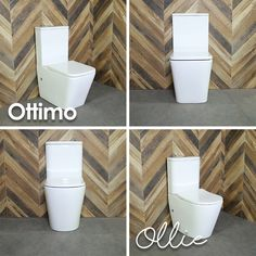 Ollie and Ottimo Rimless Back to Wall Toilets Back To Wall Toilets, Dream Bathrooms, Toilet Paper, Create Yourself, Your Style, Design, Products, Design Comics, Toilet Paper Rolls