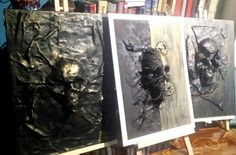 Skulls canvas steampunk