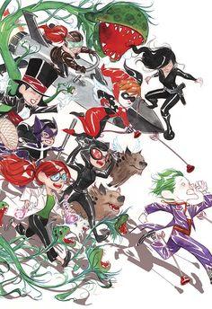 Batman Lil Gotham by Dustin Nguyen Dc Comics, Dustin Nguyen, In The Pale Moonlight, Al Ghul, Poison Ivy Batman, I Am Batman, Batman Stuff, Comic Book Collection, Joker And Harley
