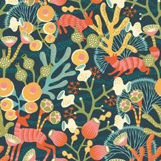 Pattern image of the wallpaper Koralläng from the collection Wonderland by Hanna Werning from Boråstapeter