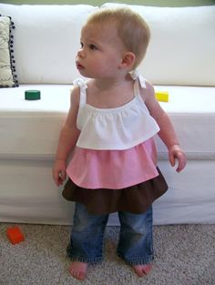 The Hopscotch Top 4 styles included  Sewing Pattern by OwlyBaby
