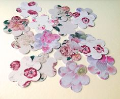 Card Shapes For Craft,Large Blossom Flowers,In Assorted Vintage Prints,100pk £1.30