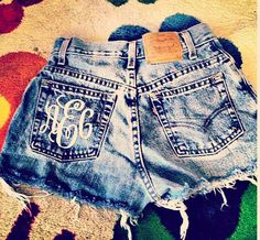 Monogrammed High Waisted shorts