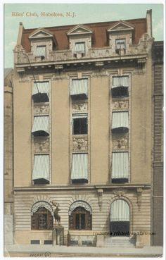 1910 Elks Club in Hoboken, New Jersey. From the Hoboken Historical Museum.
