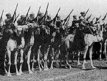 Ein Regiment Spahis in Italienisch-Libyen.