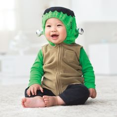 TOO CUTE HALLOWWEN COSTUMES | Little Frankenstein Costume } Props to you for creating this little monster. $19, Carters.com © Courtesy of the Manufacturer