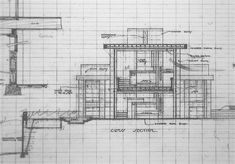 Question re: the Storer House - Wright Chat San Francisco Quotes, Building A New Home, Building Plans, Davenport House, Fabric Awning, Frank Lloyd Wright Buildings, Usonian, Maids Room, Vintage House Plans