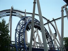 Superdooperlooper at Hershey Park. It was my first roller coaster! I think anyway. It only has two loops though but I read it was the first looping roller coaster on the East Coast so that's cool.