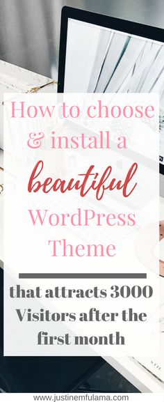 How to install and choose a beautiful #Wordpress #theme that attacts 300 visitors after the first month. | free blog theme, wordpress themes, website design, blogging for beginners, custom theme, wordpress theme for bloggers, wordpress theme blog, wordpress theme free, wordpress theme minimalist, restored 316, beautiful wordpress themes