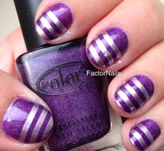 Experimenting with purple and silver #nails #nailart
