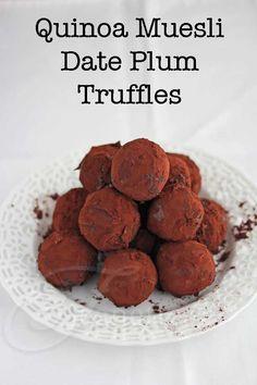Quinoa Muesli Date Plum Energy Truffle Balls - Jeanette's Healthy Living #glutenfree