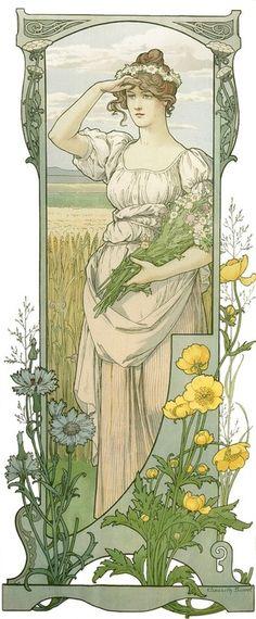 muchastyle:    Elisabeth Sonrel (1874-1953) - Fleurs des Champs