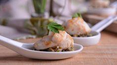 Receta | Cucharitas de vieira con trufa y cebolleta - canalcocina.es