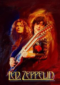 Painting of Jimmy Page and Robert Plant