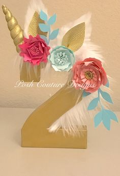 A personal favorite from my Etsy shop https://www.etsy.com/listing/515580521/unicorn-centerpiece-unicorn-number