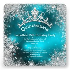31 Best Winter Wonderland Invitations Images Snowflakes Sweet 16