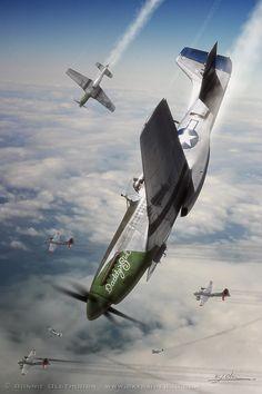 P-51 Mustang - 'Daddy's Girl' nose art