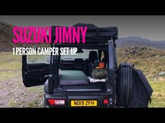 A Detailed Guide To Camping with a Suzuki Jimny – Geordie Jimny Camper New Suzuki Jimny, Roof Storage, Stealth Camping, Mini Camper, Cool Tents, Front Runner, Roof Top Tent, Motorcycles, Sleep