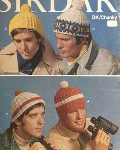 Knitting Yarn, Knitting Patterns, Cable Needle, Chunky Yarn, Vintage Knitting, Double Knitting, Vintage Patterns, Mittens, 1970s