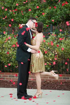 Petal toss | Kendall Lynnette Photography & Design | see more on: http://burnettsboards.com/2014/06/disney-beauty-beast-wedding/