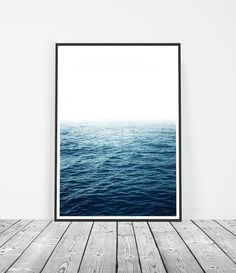 Ocean Photography Landscape Print | Ocean Print | Ocean Waves Art | Coastal Décor | Home Decor. Ocean Art by Little Ink Empire on Etsy.
