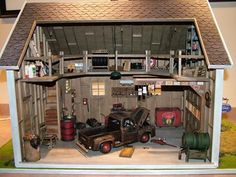 Garage : Miniature Oil Paintings, IGMA Fellow Susan Robbins. I want to make this for my husband.