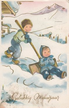 Kerst en Oud & Nieuw fantasiekaarten
