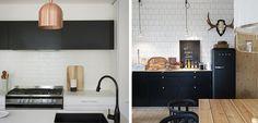 Decorar una cocina con tono negro mate - http://www.decoora.com/decorar-una-cocina-con-tono-negro-mate/