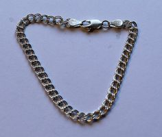 Sterling Silver Double Link Charm Bracelet Chain by onetime, $7.25