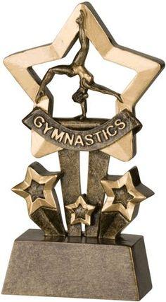 Star Gymnastics Resin Trophy