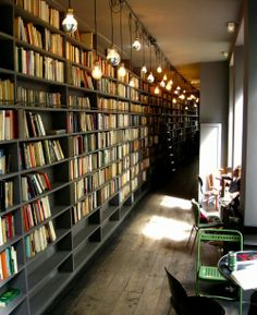 Salon de thé chez Merci, Paris 3.  Used books and Dammann tea :)