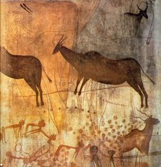 Altamira cave paintings Among the oldest cave paintings of all, people depicted the animals that they depended on. Ancient History, Art History, Art Pariétal, Paleolithic Art, Cave Drawings, Art Ancien, Art Antique, Tempera, Aboriginal Art