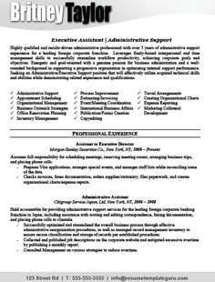 keyword optimized executive assistant resume template 45