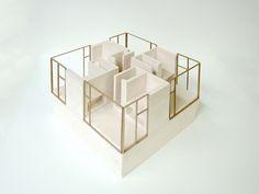 2 plaster models for NU architectuuratelier on Behance