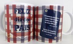 Caneca Personalizada Dia dos pais -Lembrancinha Dia dos Pais Mugs, Tableware, Personalized Mugs, Dinnerware, Cups, Mug, Dishes