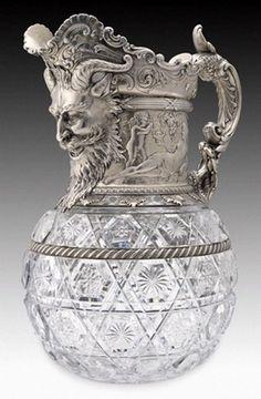Gorham Manifacturing Company of Providance,R.I.(831-present) . Glass wine pitcher
