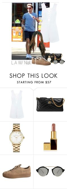 """Niall"" by idaln ❤ liked on Polyvore featuring Miss Selfridge, Gucci, Marc by Marc Jacobs, Illesteva, Jennifer Meyer Jewelry, OneDirection, NiallHoran and onedirectionoutfits"